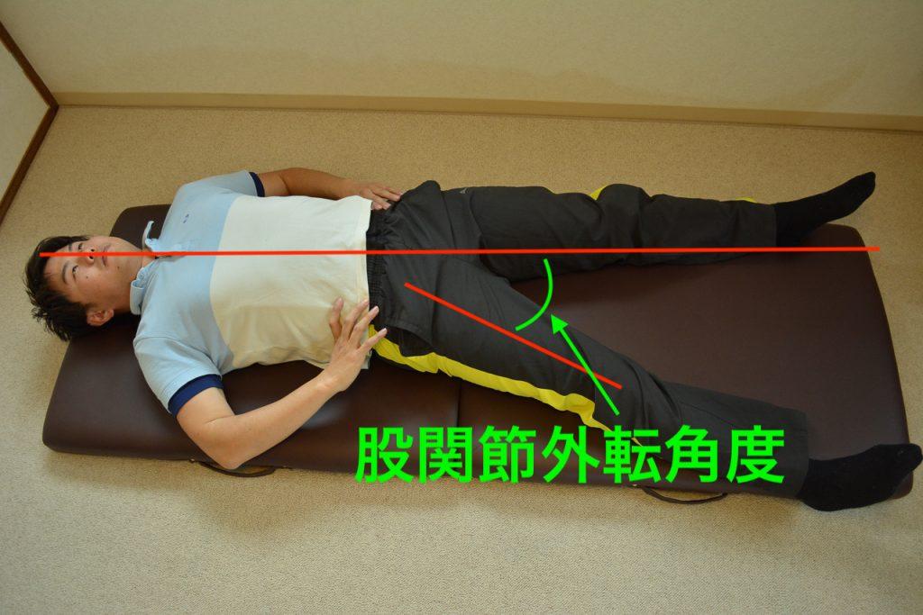 股関節外転角度